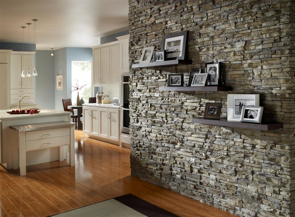 Stacked Stone For A Fireplace Home Design