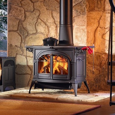 and Appleton Brick, Stone and Fireplaces.   Vermont Castings Stoves