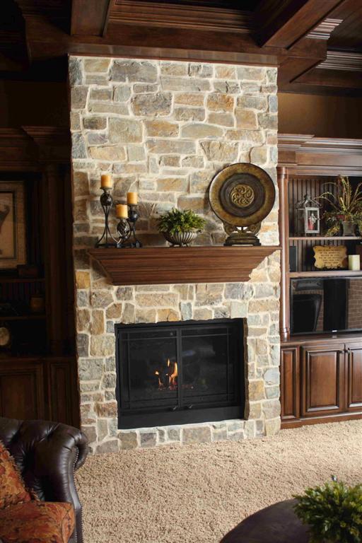 Montana Antique Ledgestone on a Kingsman 3624 Fireplace - Gagnon ...