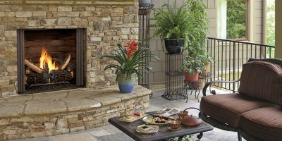 Carolina Outdoor Fireplace